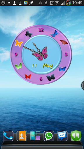 Lovely Butterfly Analog Clock