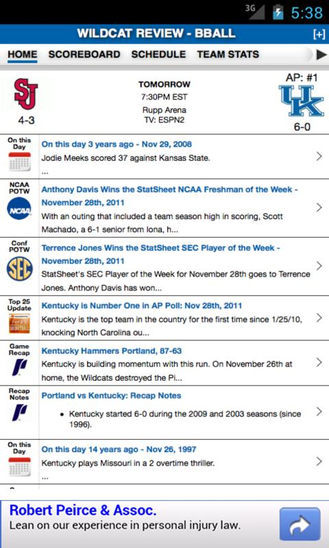 Kentucky Football & Basketball - screenshot