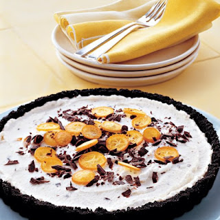 Ricotta Tart with Chocolate and Kumquats