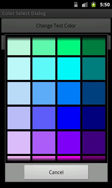 Color Picker Sample - screenshot