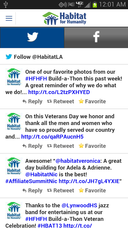 Habitat for Humanity Mobile- screenshot