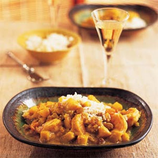 Shrimp-and-Apple Curry with Golden Raisins