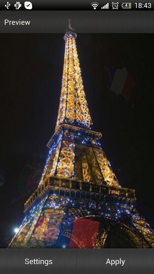 Eiffel Tower Live Wallpaper - screenshot