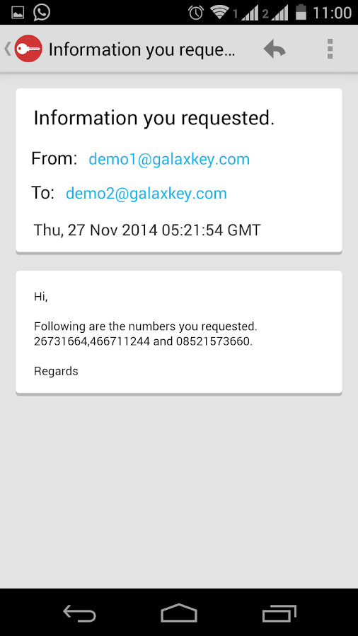 Galaxkey- screenshot