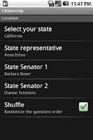 Screenshot of US Citizenship Test Trainer