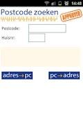Screenshot of Postcode zoeken