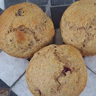 Applesauce Wheat Blueberry Muffins.