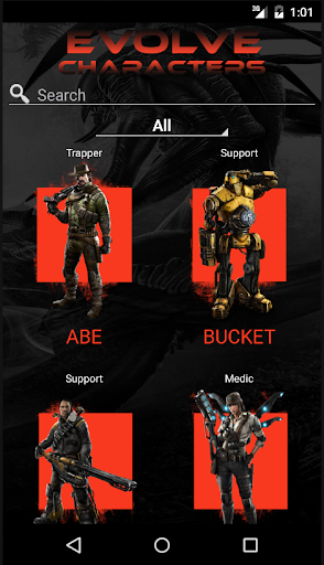 Characters of Evolve