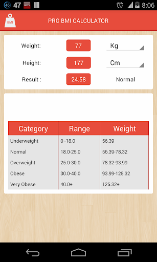 Pro BMI Calculator