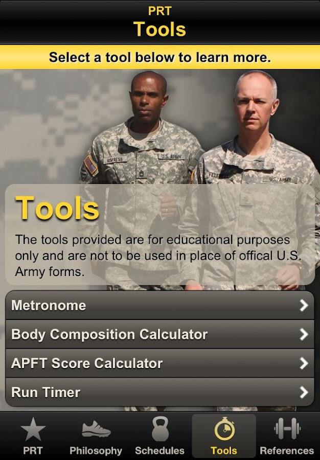 Army PRT - screenshot