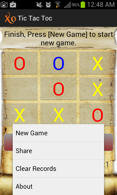 how to play xo game