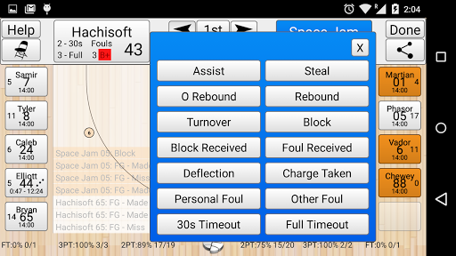 Basketball Stat Tracker  screenshots 2