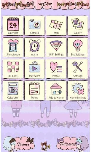 Cute Theme-Ribbon Girls- 1.0 Windows u7528 2