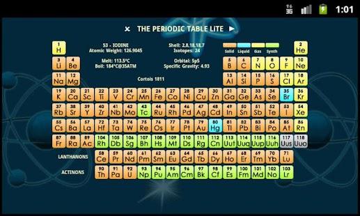 The periodic table lite izinhlelo ze android ku google play the periodic table lite isithombe esincane sesithombe skrini urtaz Gallery