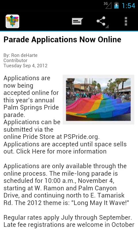 Palm Springs Pride - screenshot