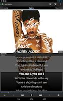 Screenshot of TuneWiki - Lyrics for Music