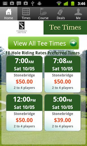 Stonebridge Golf Tee Times