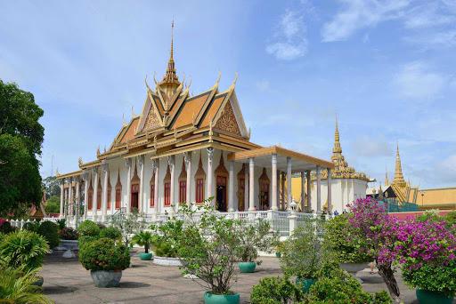 The Silver Pagoda in Phnom Penh, Cambodia.