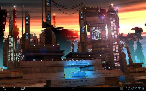 Space Cityscape 3D LWP Apps til Android screenshot
