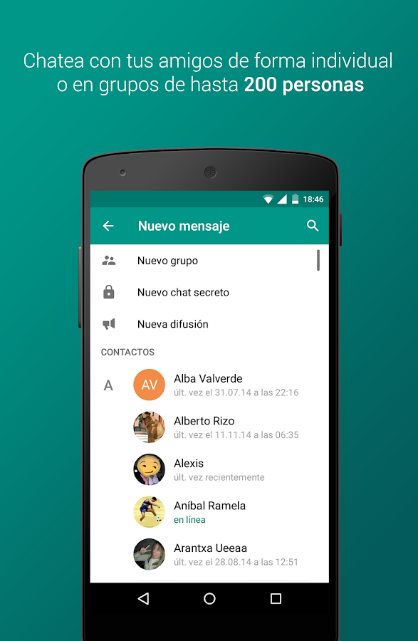 Plus Messenger: captura de pantalla