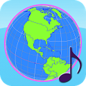 Globe Earth 3D Pro: Flags, Anthems and Timezones icon