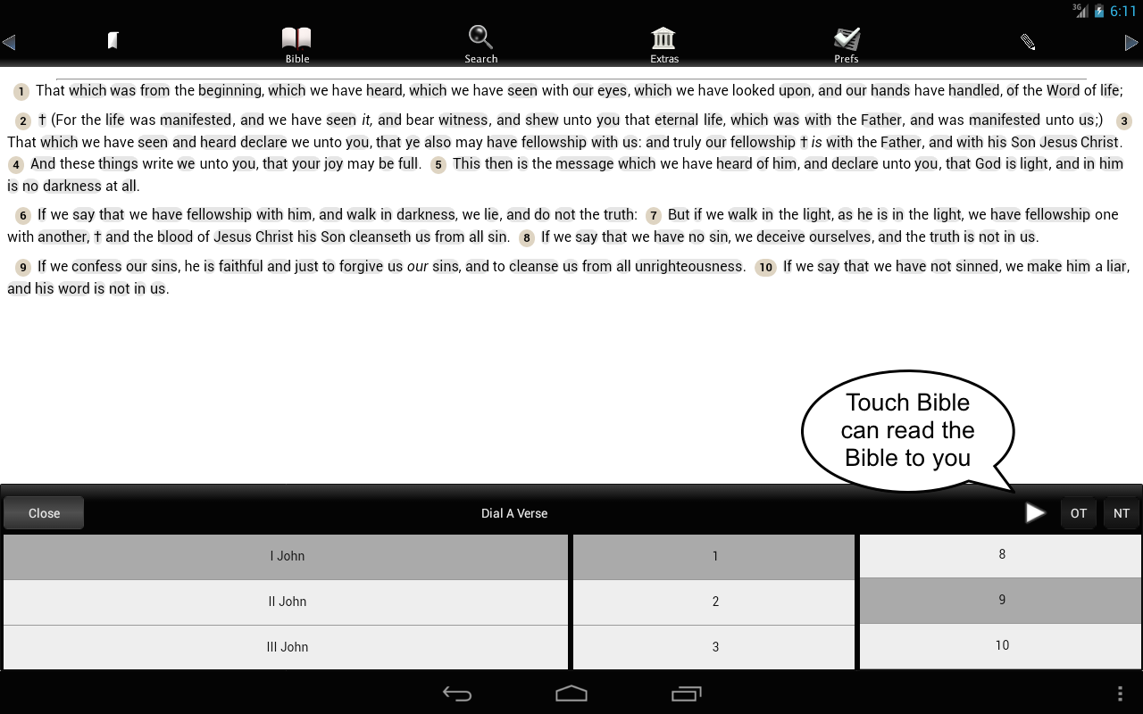Touch Bible (KJV + Strong's)- screenshot