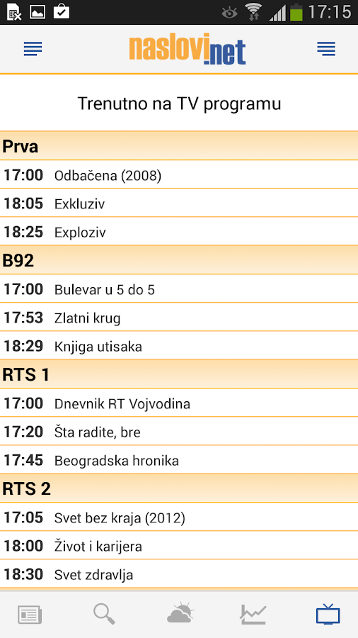 Naslovi - Vesti Srbija - screenshot