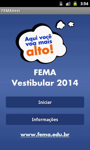Vestibular FEMA 2014