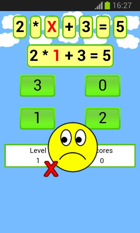 math equations game- screenshot