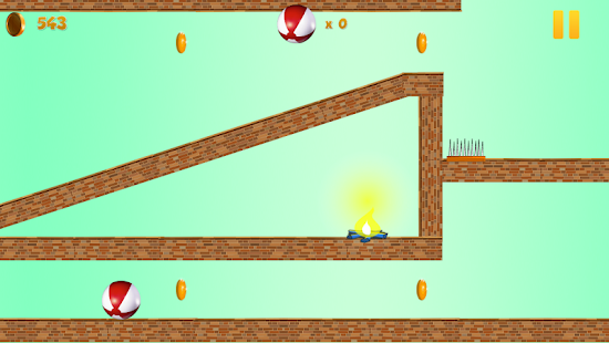 Crazy Red Bouncy Ball Spikes- screenshot thumbnail