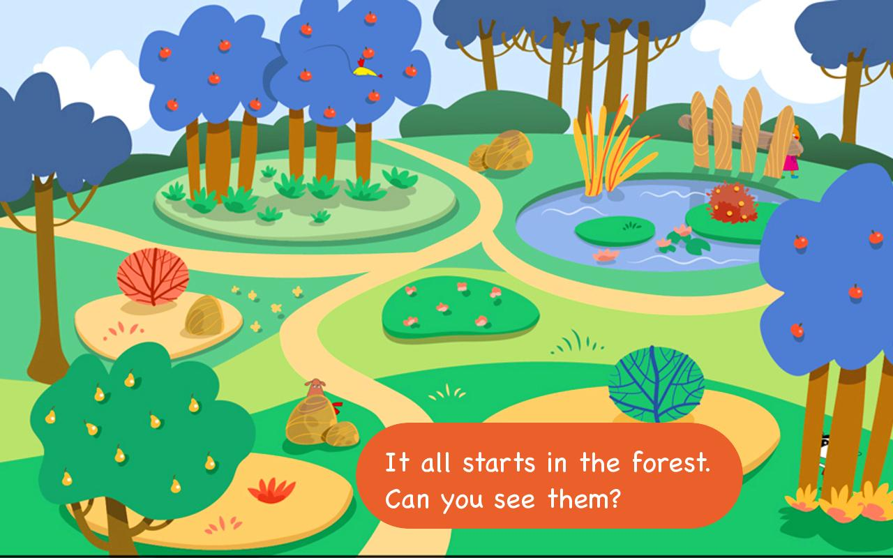 Monki Hide and Seek: English - screenshot