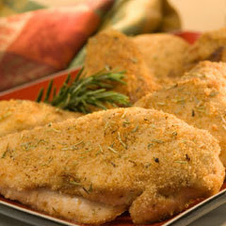 Oven-fried Herb Chicken.