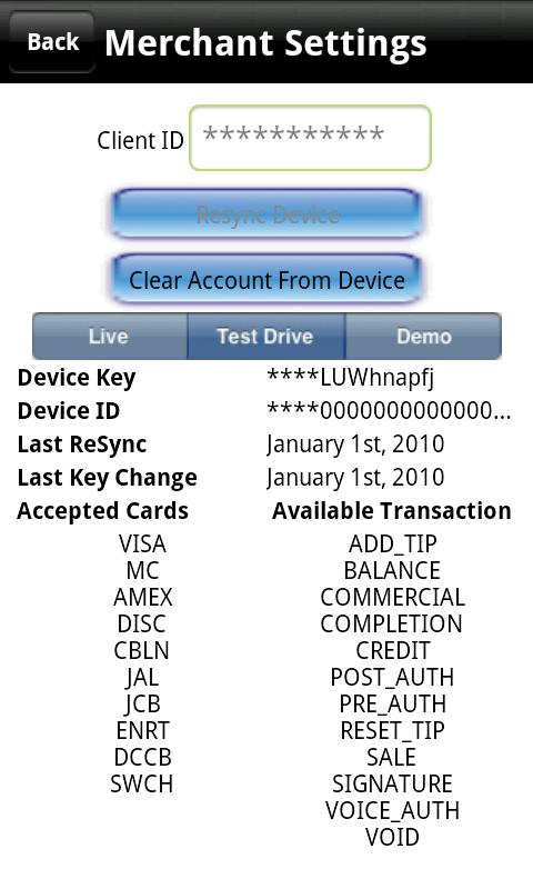 PAYware Mobile- screenshot