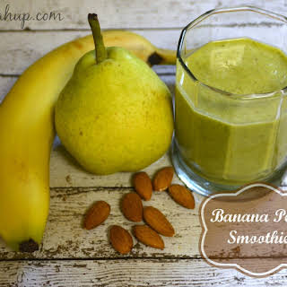 Banana Pear Smoothie.