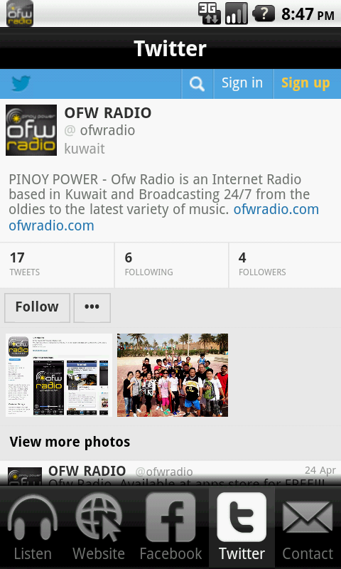 OFW RADIO- screenshot