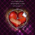 Emo Love Heart Crying Girl icon