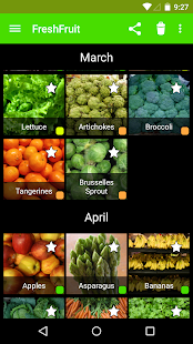 Seasonal Food Fruits and Vegs- screenshot thumbnail