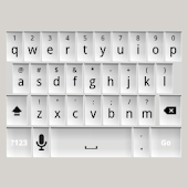 White Keyboard Skin