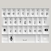 White Keyboard Skin