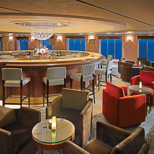 Enrichment-Entertainment-Starlite-Club-on-Crystal-Symphony - Take time to stop by the Starlite Club to finish off the night with conversation and cool beverages while aboard the Crystal Symphony.