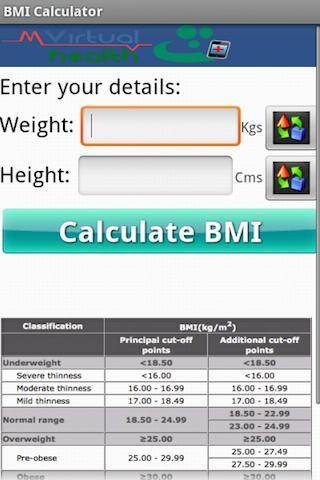 BMI Calculator Beta - mvh