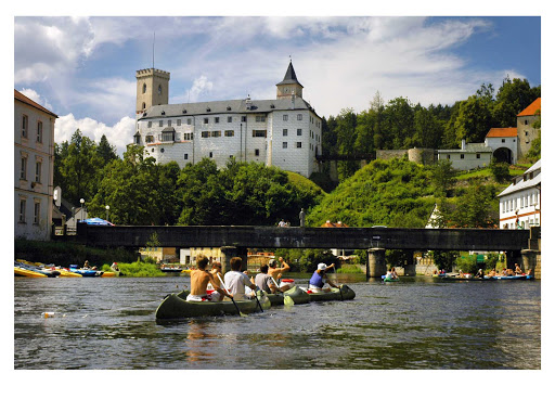 Feeling energetic on your Czech Republic cruise? Climb the 200-foot tower at Rozmberk Castle for superb views of the romantic Bohemian countryside.