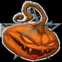 Halloween Evil Pumpkin Clock icon