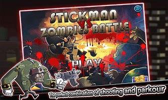 Screenshot of Stickman vs Zombies Battle