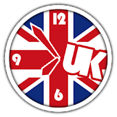 UK Flag Clock + Alarm | London