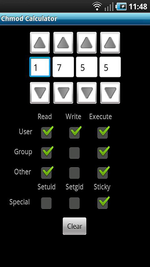 Chmod Calculator- screenshot