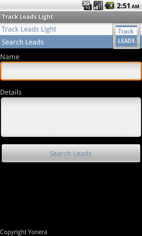 Sales Leads Tracking Lite Free- screenshot