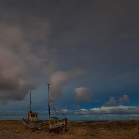 Old Boat on a dry Land  by Guðmundur Hjörtur - Landscapes Starscapes
