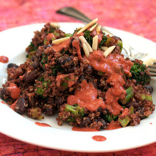 Black Beans & Quinoa with Chipotle Raspberry Sauce