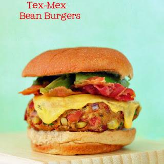 Tex-Mex Pinto Bean Burgers.